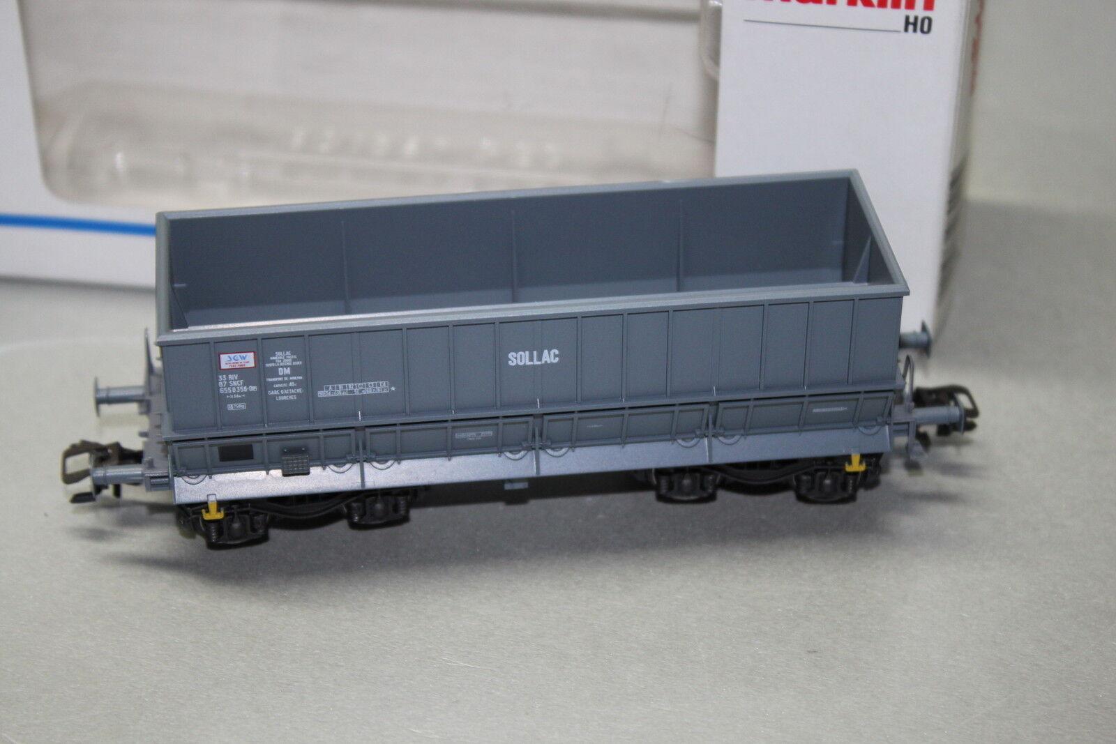 Märklin 48441 4-Achser Seitenentladewagen  Sollac  SNCF grey Spur H0 OVP