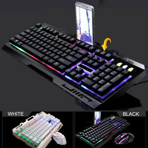 Cable Winder Accessories & Parts G700 Led Rainbow Color Backlight Gaming Game Usb Wired Keyboard Mouse Set