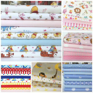 Image Is Loading Childrens Nursery Fat Quarter Bundles Pink Blue Mint