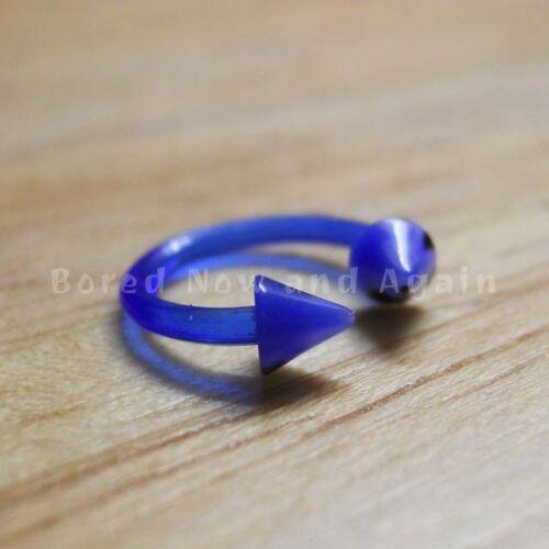 18g Hipoalergénico Acrílico Herradura 8 Mm Anillo-azul