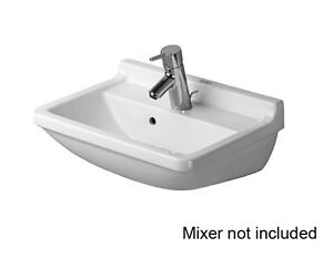 NEW-Duravit-Starck-3-500-Wall-Basin-White-0300500000