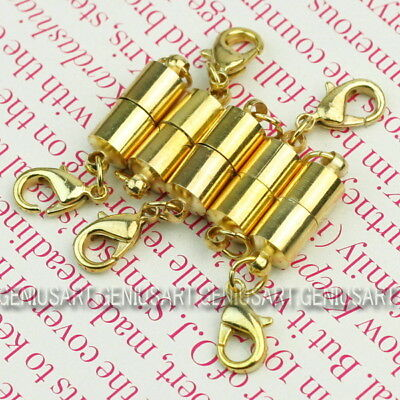 5PCS Magnetic Clasps Jewelry Converter Connector Necklace Craft Finding Gold