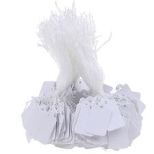 300x Label Tie String Strung Ticket Jewelry Merchandise Display Price Tags Ihm