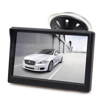 """12,7 cm TFT Monitor Saugnapf Rückfahrsystem LCD 5"""" Zoll kleiner Saugnapfhalter"""
