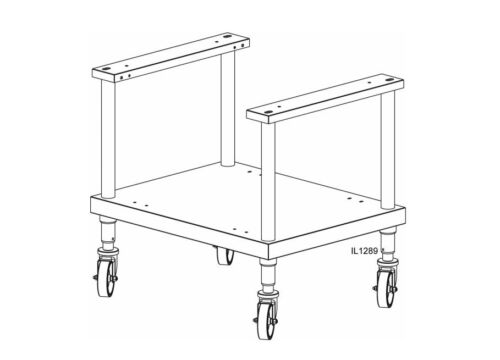 """Lang ESCOH28 CPS 28/"""" Sliding Pan Equipment Stand for Single Deck Ovens NEW!"""