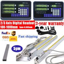 23axis Dro Digital Readout Displayttl Linear Scale 5m Cnc Mill Lathe Machine