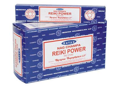 Indian Satya NAG CHAMPA REIKI POWER Incense sticks 12 x 15 grams = 180 gms
