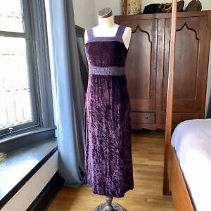 Vintage 1980's FUNKY PEOPLE Purple Dress Medium