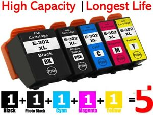 5x Generic 302 302XL Ink Cartridges For Epson Expression XP6000 XP6100 XP 6000