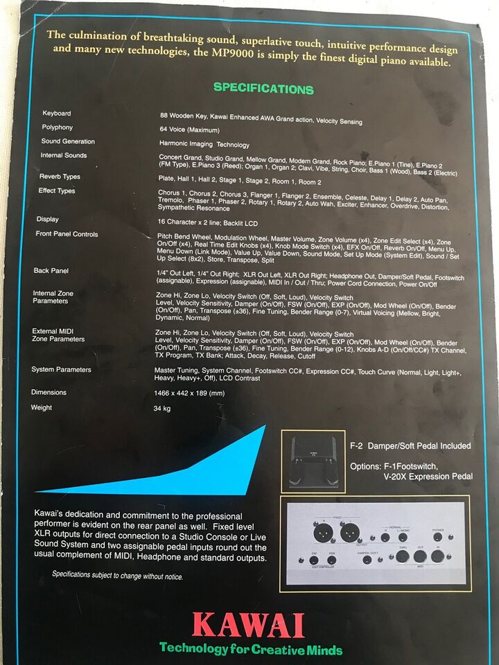 Stagepiano, Kawai MP9000