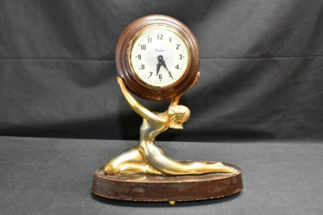 Art Deco Style Goddess Clock Snider Clock Corporation Toronto Canada 1950s