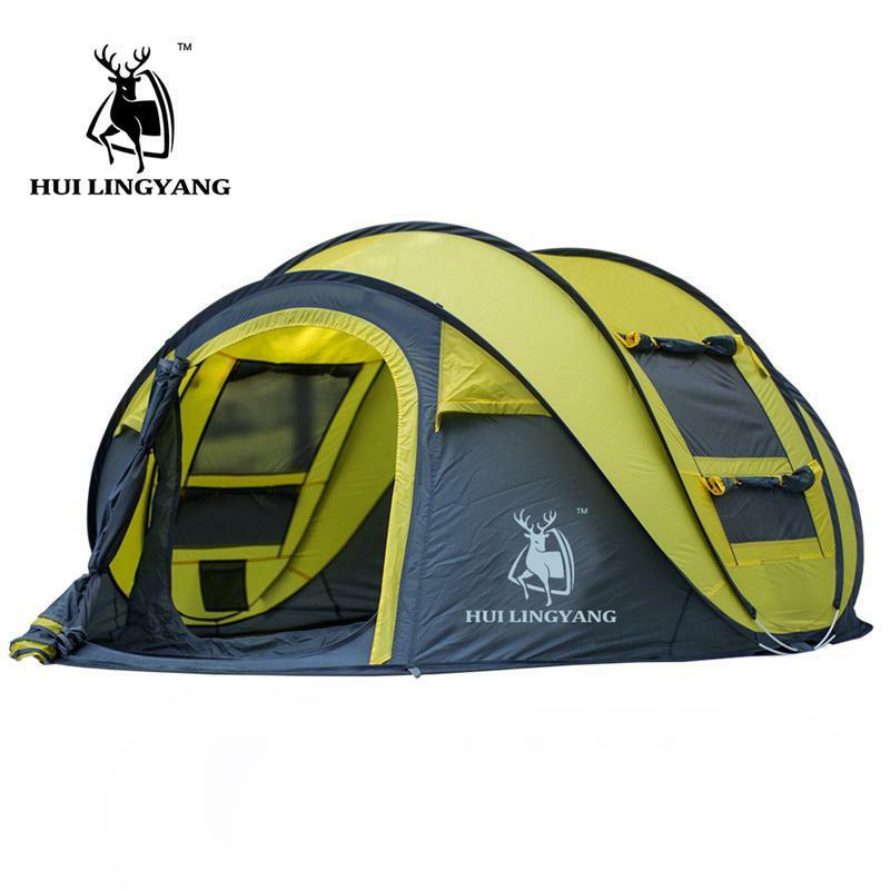 Hui Lingyang Automatic Pop Up Camping Tent 3 4 Person Hiking Waterproof New 2018