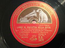 """LAWRENCE TIBBETT """"Largo Al Factotum Della Citta""""/""""Eri Tu Che..."""" 78rpm 12"""" VG+"""