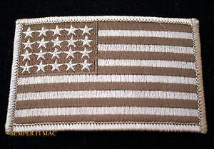 USA FLAG TAN DESERT HAT PATCH US MARINE NAVY VEST SHOULDER PIN UP ... 5e3e74a73