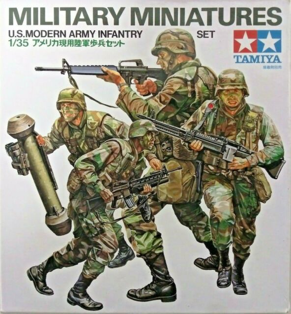 Tamiya 1/35 Military Miniatures US Modern Army Infantry Soldiers Set #3633