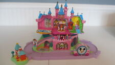 DISNEY MAGIC KINGDOM CASTLE POLLY POCKET PLAYSET PRINCESS AURORA MICKEY CINDEREL