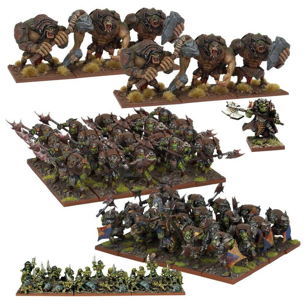 Orc Army Box Set - Kings of War - 50x Miniatures