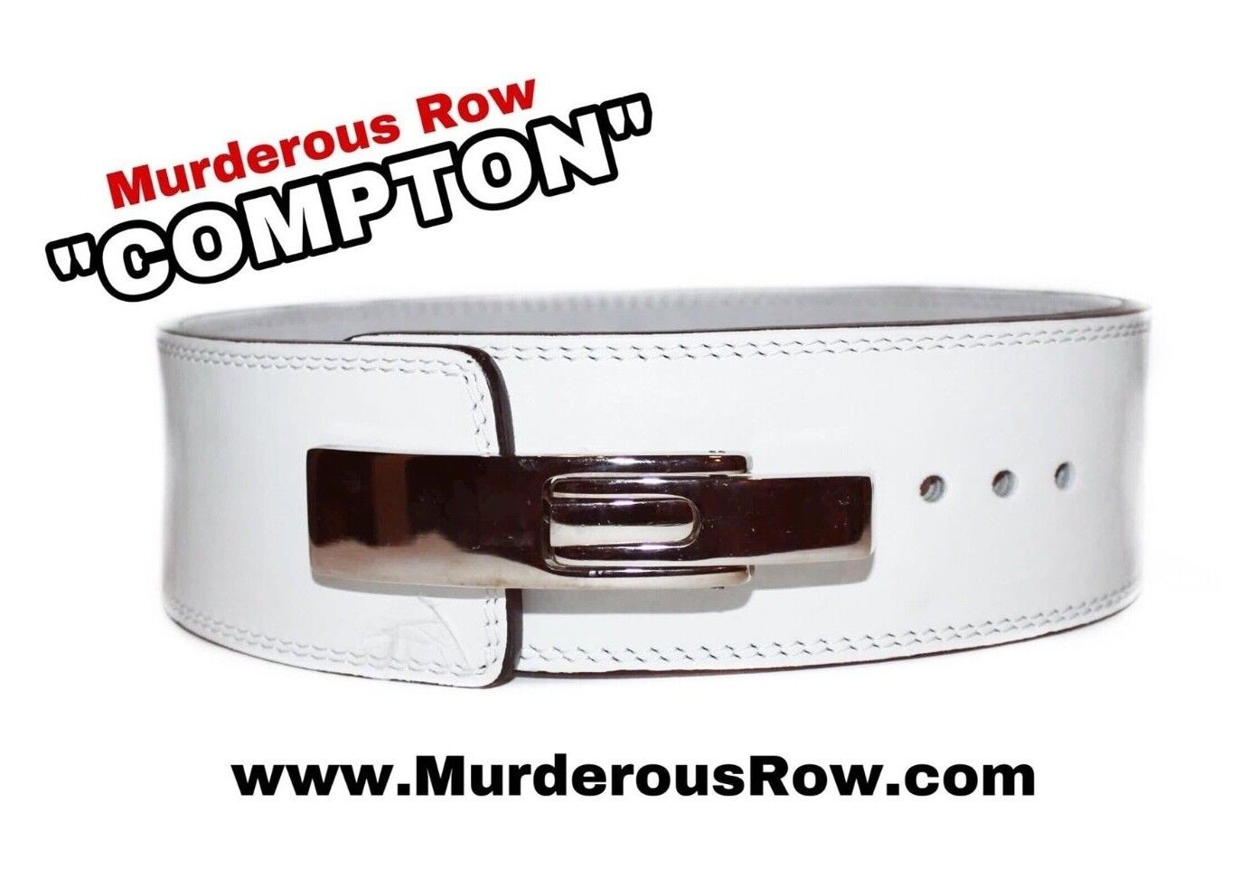 Murderous Row   COMPTON  Powerlifting Lever 10mm Power Belt (XL)- LIFE WARRANTY  shop makes buying and selling