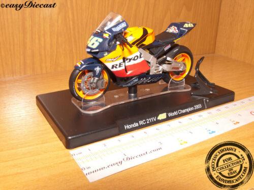 HONDA RC211V SUZUKA 1//18 VALENTINO ROSSI MOTO-GP 2003 #46 MOTO GP