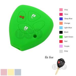 Silicone Skin Case Cover fit for TOYOTA Yaris RAV4 Matrix Remote Key 3B LG