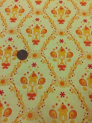 100/% Cotton Quilting craft Fabric Benartex Under The Big Top 2843 Circus Aqua