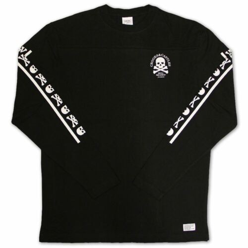 manica shirt Squadron T Crooks lunga Skull Castles nera Bq1XvX