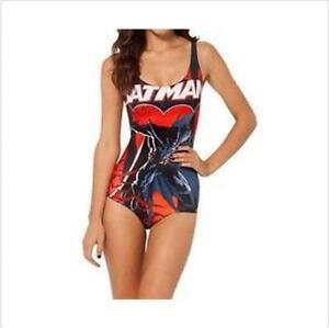 c9a419b3d1a 3 Style Monokini Swimsuit Comic Batman Printed One Piece Swimwear S ...