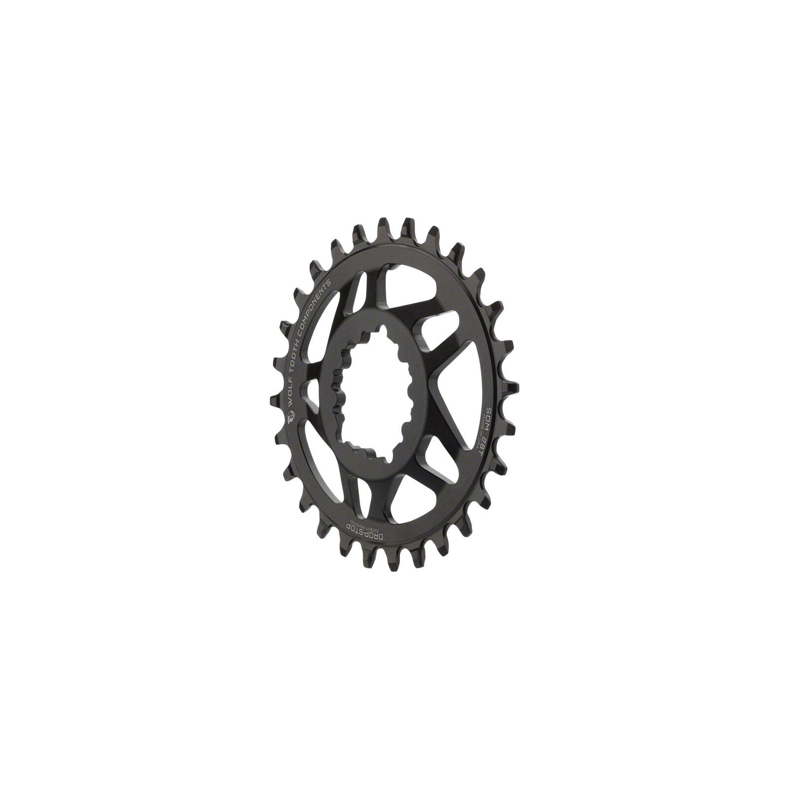 Wolf Tooth Components Drop-Stop PowerTrac DM 28t Chainring SRAM 6mm Offset