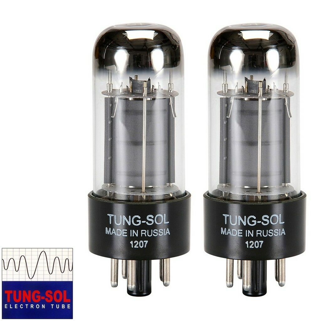 Brand New Tung-Sol Reissue 6V6 6V6GT Plate Current Matched Pair (2) Vacuum Tubes