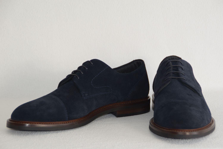 HUGO BOSS BUSINESSSCHUHE, Ocean_Derb_sdct, Gr. 41,5   UK 7.5   US 8.5  Dark Blau    | Elegante und robuste Verpackung