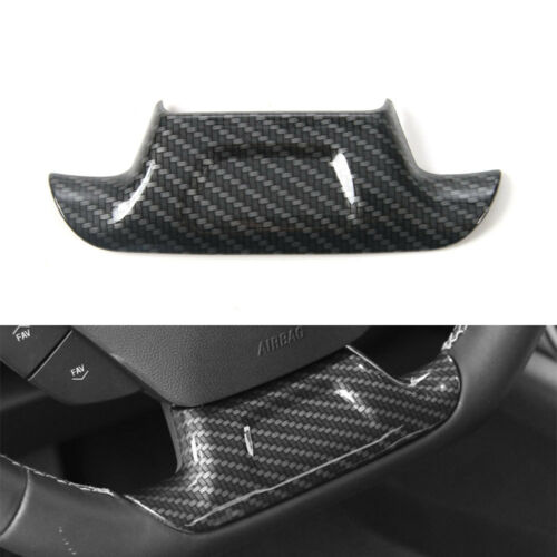 Carbon Fiber Style Steering Wheel Cover Trim  For Chevrolet Camaro 16 2017 2018