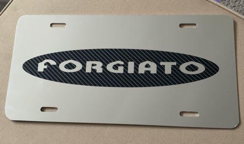 Forgiato Carbon Logo License Plate Chrome New Universal Fits Bmw Chevy Audi