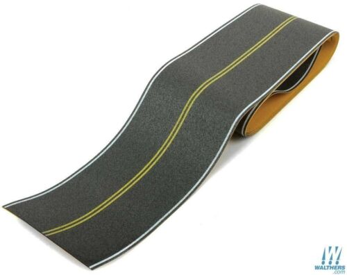 HO Scale Walthers Scenemaster 949-1252 Flexible Self Adhesive Paved Roadway hwy