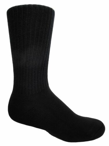 "2 Pairs Field/'s 98/% Cotton Cushion-Sole /""Non-binding/"" Crew Socks J.B"