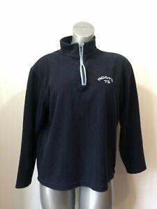 Roots-Athletics-Pullover-Women-039-s-Medium-Blue-1-4-Zip-Long-Sleeve-Fleece-Sweater