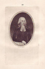 JOHN KAY Original Antique Etching. Rev. Dr. Peddie, 1791