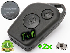 REPLACEMENT-KEY-CASE-FOR-CITROEN-XSARA-PICASSO-SAXO-CR1620-BATTERY-2x-BUTTONS