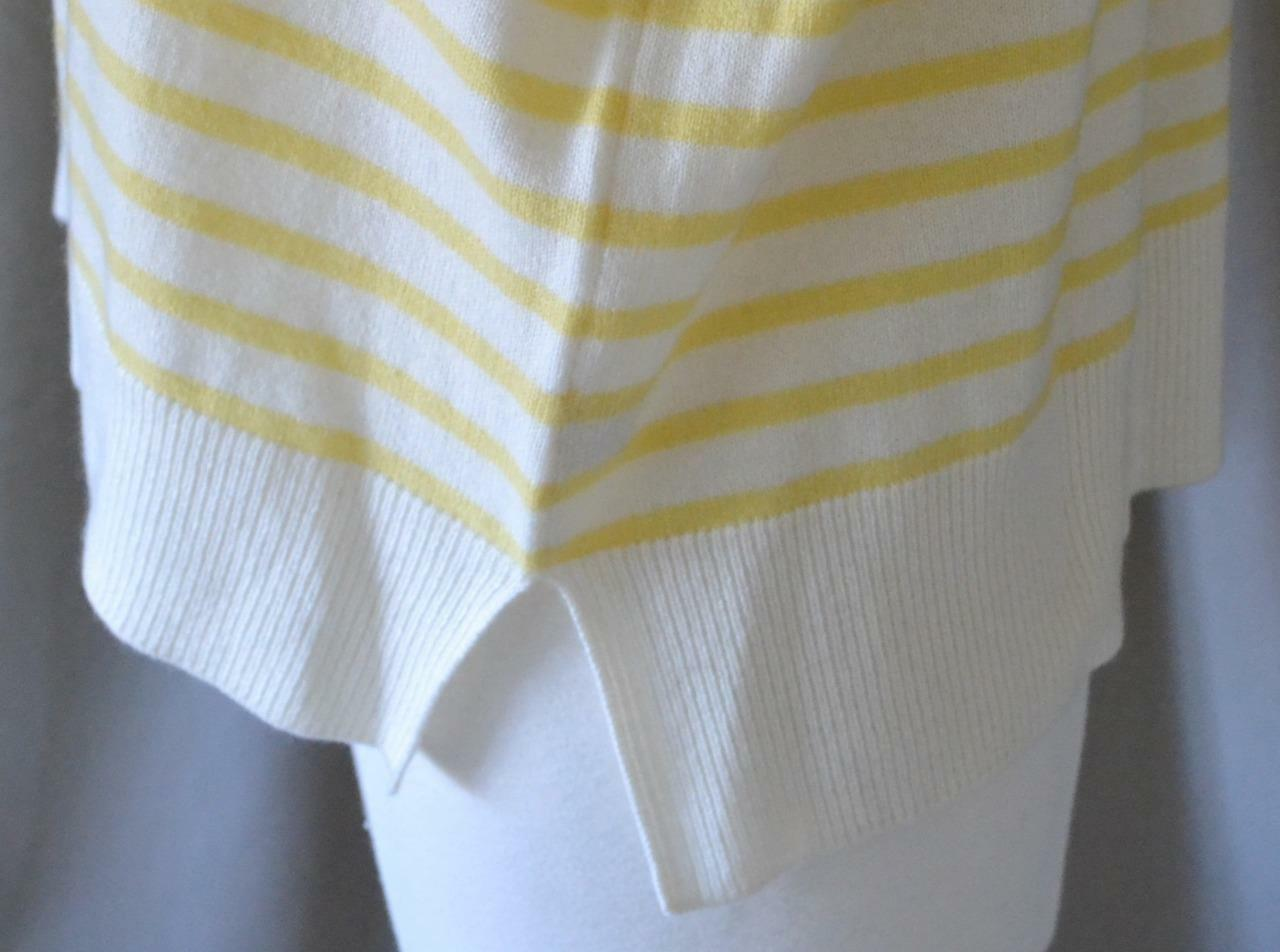 Demylee Yellow & White White White Striped Cashmere Sweater Size XS - Excellent condition affde0