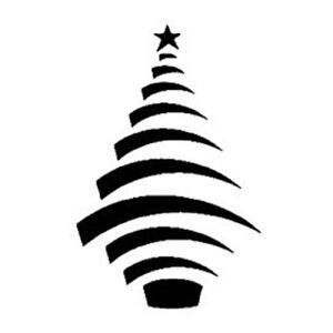 Contemporary Christmas Tree.Details About Contemporary Christmas Tree 190mm Durable Mylar Stencil A5 A4 A3 New