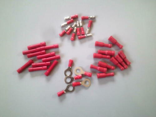 """ELECTRICAL WIRE Connector Kit 22-18 G Male /& Female Bullet Butt-1//4/""""Ring"""