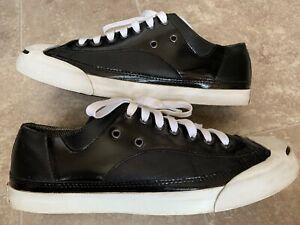 Details about Converse Jack Purcell 100396 JP Ox Leather Black Unisex Size Men's 9 Wo's 10.5