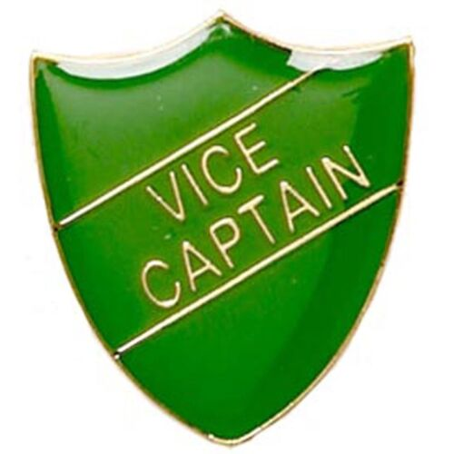 GW Vice Captain Shield Shape Badge ideal for schools available in 4 colours