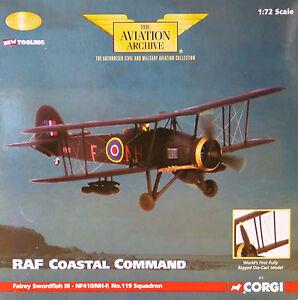 CORGI-aa36304-Fairey-Swordfish-Mk-III-no119sqn-Costiero-Comando-NUOVO-0003-2640