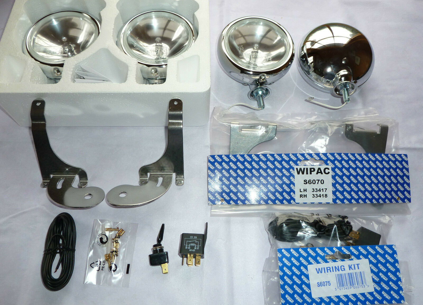 BMW MINI SPOT LIGHTS DRIVING LAMPS AUXILIARY LAMPS + FULL KIT 2001 on R50 52 53