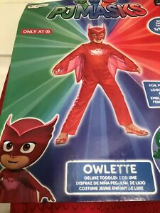 Small//2T Owlette Classic Toddler PJ Masks Costume