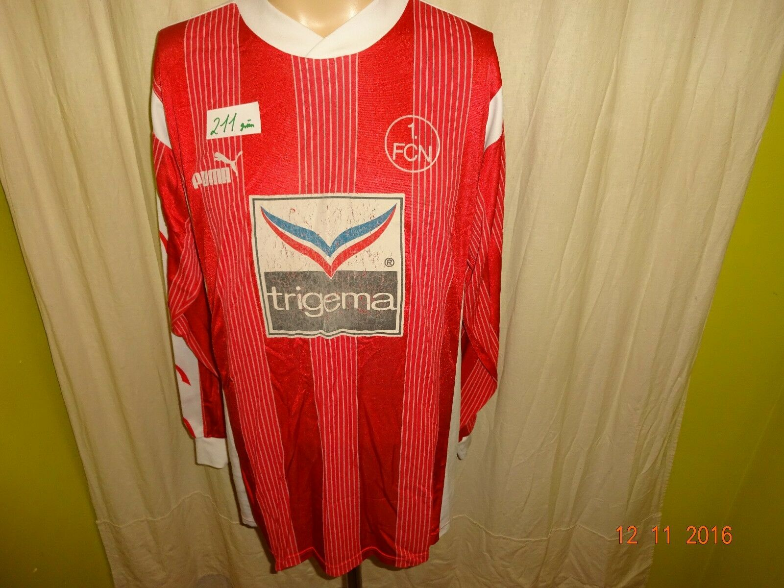 1.FC Nürnberg Original Puma Langarm Heim Trikot 1993/94