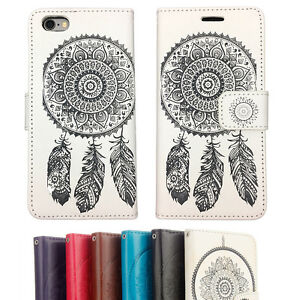 Wallet-Leather-Flip-Case-Marble-Gel-TPU-Cover-for-Apple-iPhone-5-5S-6-6S-Plus-7