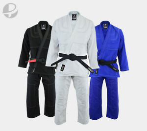 BJJ Gi Adults Kimono Brazilian Jiu Jitsu MMA Grappling Uniform w/ belt and pants