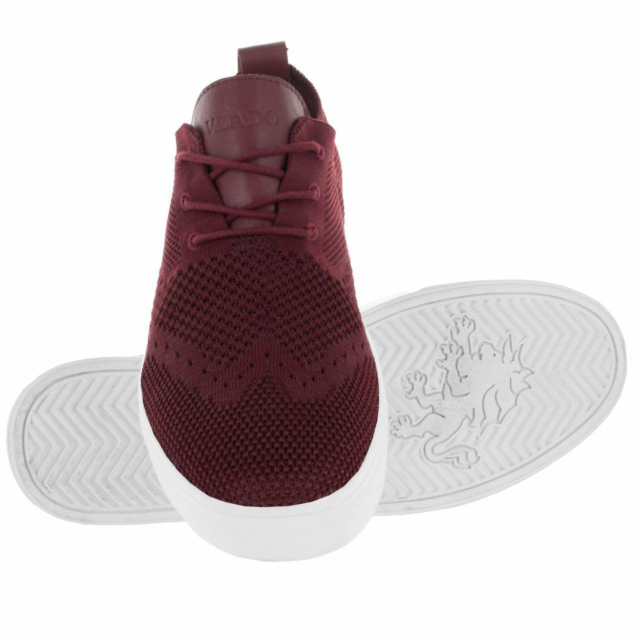 Vlado Footwear Men's Venice Low-Top shoes Burgundy IG-800-15