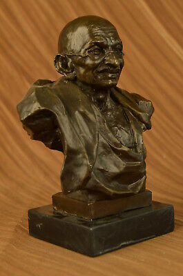 Metallobjekte Bronze Humorous Unterzeichnet Original Mavchi Sammler Edition Gandhi Bronze Skulptur Statue Hot Elegant And Graceful
